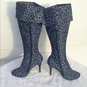 Herstyle Wyante Animal Print Denim Boots